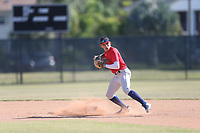 Christian Cairo (57) of Calvary Christian High School in Clearwater, Florida during the Under Armour Baseball Factory National Showcase, Florida, presented by Baseball Factory on June 13, 2018 the Joe DiMaggio Sports Complex in Clearwater, Florida.  (Nathan Ray/Four Seam Images)