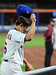 Daisuke Matsuzaka (Mets),<br /> SEPTEMBER 14, 2013 - MLB :<br /> Daisuke Matsuzaka of the New York Mets tips his cap to fans as he walks back to the dugout after the seventh inning during the second game of a Major League Baseball doubleheader against the Miami Marlins at Citi Field in Flushing, New York, United States. (Photo by AFLO)
