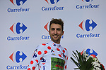 Taylor Phinney (USA) Cannondale Drapac wears the first mountains Polka Dot Jersey at the end of Stage 2 of the 104th edition of the Tour de France 2017, running 203.5km from Dusseldorf, Germany to Liege, Belgium. 2nd July 2017.<br /> Picture: Eoin Clarke | Cyclefile<br /> <br /> <br /> All photos usage must carry mandatory copyright credit (&copy; Cyclefile | Eoin Clarke)