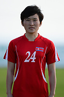 20190227 - LARNACA , CYPRUS : Jon Un-gyong pictured during a women's soccer game between Korea DPR and Czech Republic , on Wednesday 27 February 2019 at the GSZ Stadium in Larnaca , Cyprus . This is the first game in group A for both teams during the Cyprus Womens Cup 2019 , a prestigious women soccer tournament as a preparation on the Uefa Women's Euro 2021 qualification duels and the Fifa World Cup France 2019. PHOTO SPORTPIX.BE | STIJN AUDOOREN