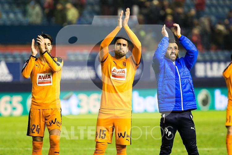 "Eibar's Adrian Gonzalez, Eibar's Mauro dos Santos  during the match of ""Copa del Rey"" between CA Osasuna and Eibar at El Sadar Stadium in Pamplona. January 03 2017. (ALTERPHOTOS/Rodrigo Jimenez)"