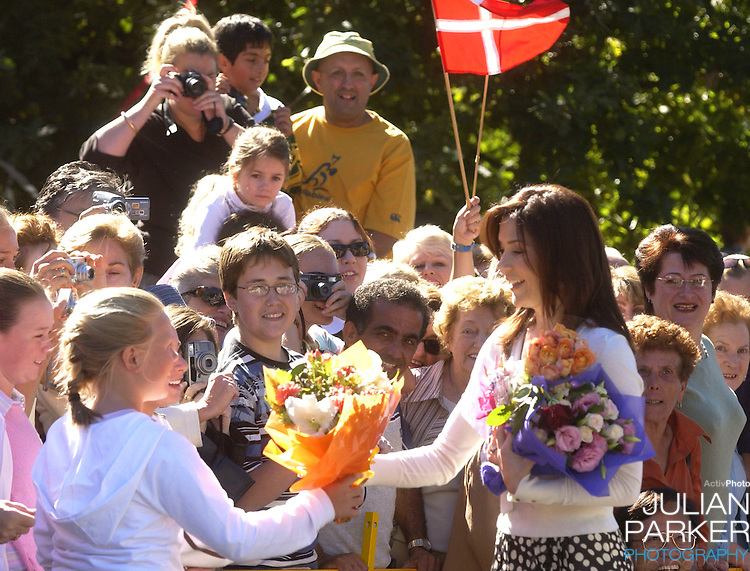 Crown Prince Frederik & Crown Princess Mary of Denmark attend a church service at the Danish Church in Pennant Hills, near Sydney, during their 2-week visit to Australia..