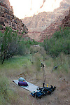 typical backpackers camp. It was hard to find a spot that night that was both out of the riverbed and out of elk paths.