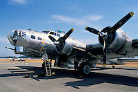"Boeing B-17G Flying Fortress (""Sentimental Journey"") on Static Display - at Abbotsford International Airshow, BC, British Columbia, Canada"