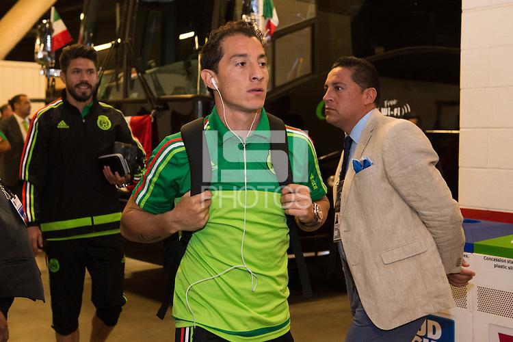 Photo before the match Mexico vs Chile, Corresponding to the quarterfinals of the America Cup Centenary 2016 at Levis Stadium.<br /> <br /> Foto previo al partido Mexico vs Chile, Correspondiente a los Cuartos de Final de la Copa America Centenario 2016, en el Estadio Levis, en la foto: Andres Guardado de Mexico<br /> <br /> <br /> 18/06/2016/MEXSPORT/Jorge Martinez.