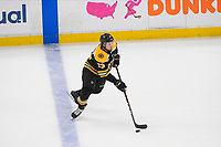 June 6, 2019: Boston Bruins defenseman Charlie McAvoy (73) in game action during game 5 of the NHL Stanley Cup Finals between the St Louis Blues and the Boston Bruins held at TD Garden, in Boston, Mass. The Blues defeat the Bruins 2-1 in regulation time. Eric Canha/CSM