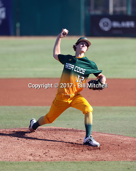 Sam Soutenborough plays in the 2017 Area Code Games on August 6-10, 2017 at Blair Field in Long Beach, California (Bill Mitchell)