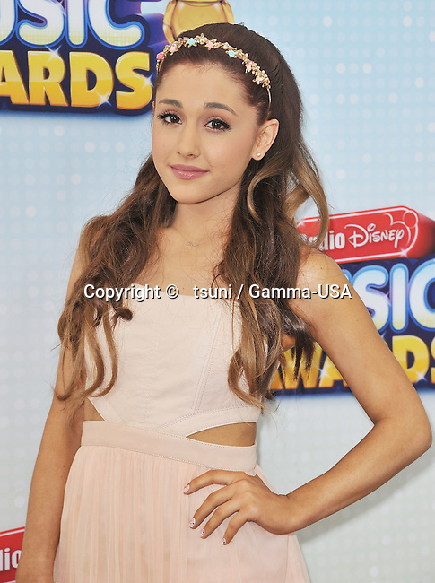 Arianna Grande 189 arriving the Radio Disney Music Awards at the Nokia Theatre in Los Angeles.