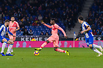Ousmane Dembele of FC Barcelona (C) in action during the La Liga 2018-19 match between RDC Espanyol and FC Barcelona at Camp Nou on 08 December 2018 in Barcelona, Spain. Photo by Vicens Gimenez / Power Sport Images