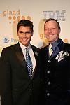 Jack Mackenroth (Project Runway) and Brad Boles at the 20th Annual GLAAD Media Awards on March 28, 2009 at the New York Marriott, New York City, NY. (Photo by Sue Coflin/Max Photos)