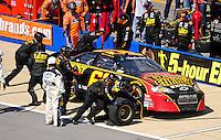 Apr 25, 2009; Talladega, AL, USA; NASCAR Nationwide Series driver Brendan Gaughan pits during the Aarons 312 at the Talladega Superspeedway. Mandatory Credit: Mark J. Rebilas-