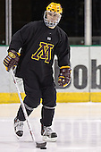 Derek Peltier - The University of Minnesota Golden Gophers took part in their morning skate at Ralph Engelstad Arena in Grand Forks, North Dakota, on Saturday, December 10, 2005.