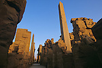 Pharaohs of the Sun; Obelisks of Thutmose I and Queen Hatsheput tower over the Great Temple of Amun at Karnak; Egypt
