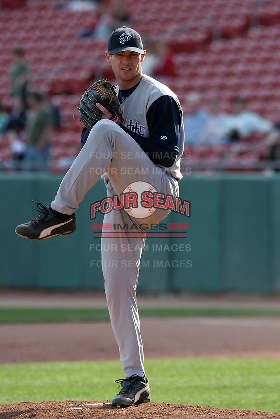 Charlotte Knights Jeff Farnsworth during an International League game at Dunn Tire Park on April 30, 2006 in Buffalo, New York.  (Mike Janes/Four Seam Images)