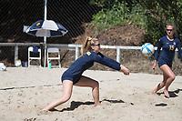 BERKELEY, CA - April 14, 2017: Cal Bears Beach Volleyball team vs. the Washington Huskies at the Clark Kerr Sand Volleyball Courts. Final score, Cal Bears 4, Washington Huskies 1.