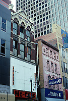 Pittsburgh: Fifth Avenue Facades--62 buildings along Forbes and Fifth were to be demolished in 2001. Defeated by Landmarks Foundation.  Photo 2001.
