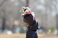 WALLACE, NC - MARCH 09: Mallory Fobes of UNC Wilmington tees off on the 11th hole of the River Course at River Landing Country Club on March 09, 2020 in Wallace, North Carolina.