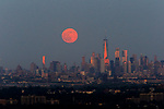 Strawberry Moon rises over New York City