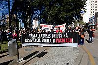 CURITIBA, PR, 27.06.2017 - PROTESTO-PR – Servidores Municipais realizam ato em frente a Prefeitura de Curitiba (PR) em protesto contra votação do projeto do prefeito Rafael Grega (PMN) na manhã desta terça-feira (27). (Foto: Paulo Lisboa/Brazil Photo Press)