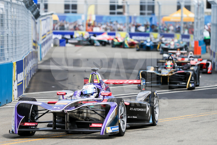 NEW YORK,EUA, 15.07.2017 - FORMULA-E - O britanico Sam Bird durante etapa R9 New York City da Qualcomm Formula E no Brooklyn na cidade de New York nos Estados Unidos neste sábado, 15. (Foto: William Volcov/Brazil Photo Press)