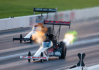 Jun 7, 2019; Topeka, KS, USA; NHRA top fuel driver Billy Torrence during qualifying for the Heartland Nationals at Heartland Motorsports Park. Mandatory Credit: Mark J. Rebilas-USA TODAY Sports