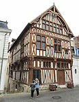 VMI Vincentian Heritage Tour: Members of the VMI visit Joigny France Thursday, June 30, 2016, home of the several timber houses. (DePaul University/Jamie Moncrief)