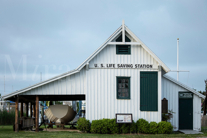 Historic US Life Saving Station, Lewes, Delaware, USA
