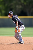 New York Yankees Gosuke Katoh (29) during a minor league spring training game against the Pittsburgh Pirates on March 28, 2015 at Pirate City in Bradenton, Florida.  (Mike Janes/Four Seam Images)