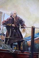 Painting of Christopher Columbus as an old man, Museo Historico Naval or Naval History Museum, city of Veracruz, Mexico