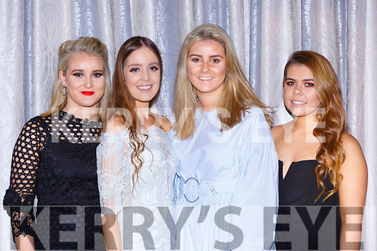 Laura O'Sullivan, Amy O'Shea, Zoe O'Sullivan and Chloe Bartlett at the Dr Crokes GAA social in the Dromhall Hotel on Friday night