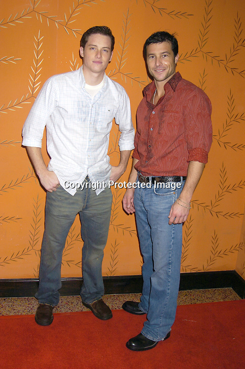 Jesse Soffer and Mark Collier..at the Procter and Gamble Christmas Party at LQ on ..December 10, 2004. ..Photo by Robin Platzer, Twin Images