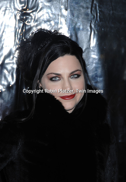 """Amy Lee and guest.arriving at the New York Premiere of """"Sweeney Todd"""" starring Johnny Deep on December 3, 2007 at The Ziegfeld Theatre in New York City. .Robin Platzer, Twin Images"""