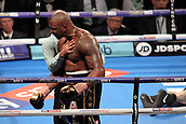 24th March 2018, O2 Arena, London, England; Matchroom Boxing, WBC Silver Heavyweight Title, Dillian Whyte versus Lucas Browne; Dillian Whyte celebrates after his KO win over Lucas Browne
