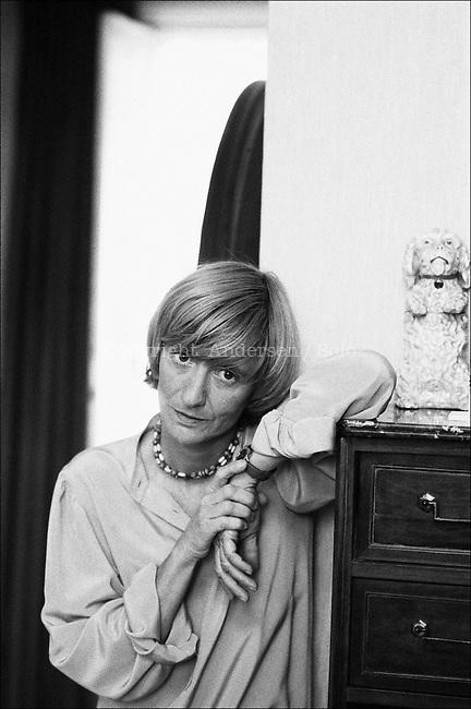 Francoise Sagan at home in Paris