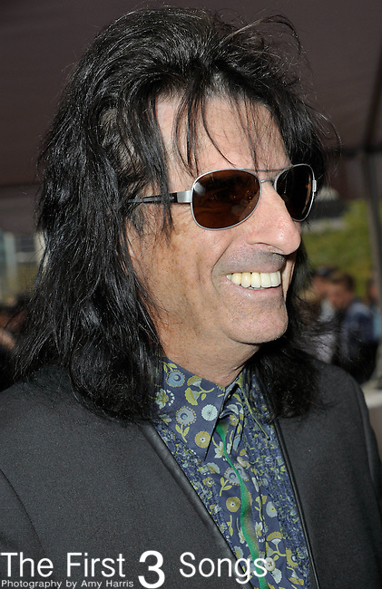 Alice Cooper attends the Rock & Roll Hall of Fame Induction Ceremony in Cleveland, Ohio on April 14, 2012.
