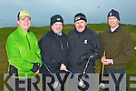 SPRING LEAGUE: Competing in the Castle Bar Spring League at Tralee Golf Club on Sunday l-r: Patrick Walsh, Mike Barrett, Bill Naughton and Brian Monaghan.