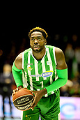7th January 2018, San Pablo Sports Municipal Palace, Seville, Spain; Endesa League Basketball, Real Betis Energia Plus versus FC Barcelona Lassa; Anosike from Betis Plus with a free throw