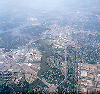 1998 September 05..Aerial..High altitude of census tracts around Elizabeth River in Portsmouth & Norfolk..Gene Woolridge.NEG# 11678 - 48.NRHA#..