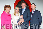 Little Jamie O'Donoghue Muckross Killarney celebrated his christening with his parents Michael Bernard and Edel and gis godparents Danny Kelleher and Sheila O'Donoghue in the Kerry Way bar Glenflesk on Saturday