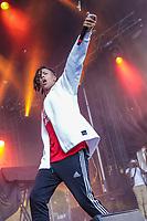 Zach Zoya performs at the Festival d'ete de Quebec (Quebec Summer Festival) on July 12, 2018.
