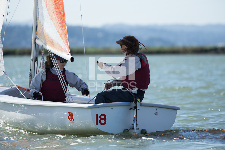Stanford Sailing at the Stanford University Rowing and Sailing Center in Redwood Shores, CA on April 2, 2015