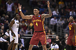 MILWAUKEE, WI - MARCH 18: Iowa State Cyclones guard Donovan Jackson (4) gestures to a Purdue Boilermakers player during the second half of the 2017 NCAA Men's Basketball Tournament held at BMO Harris Bradley Center on March 18, 2017 in Milwaukee, Wisconsin. (Photo by Jamie Schwaberow/NCAA Photos via Getty Images)