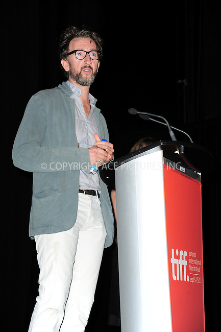 WWW.ACEPIXS.COM<br /> <br /> September 7 2013, Toronto<br /> <br /> John Carney arriving at the 'Can A Song Save Your Life?' premiere during the 2013 Toronto International Film Festival at Princess of Wales Theatre on September 7, 2013 in Toronto, Canada.<br /> <br /> By Line: William Bernard/ACE Pictures<br /> <br /> <br /> ACE Pictures, Inc.<br /> tel: 646 769 0430<br /> Email: info@acepixs.com<br /> www.acepixs.com