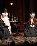 Dee Nelson, Jessica Chastain, Caitlin O'Connell during the Broadway Opening Night Performance Curtain Call for 'The Heiress' at The Walter Kerr Theatre on 11/01/2012 in New York.