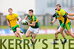 Jonathan Lyne Kerry in action against Christy Toye Donegal in Division One of the National Football League at Austin Stack Park Tralee on Sunday.