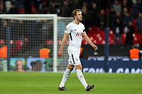 A despondent  Harry Kane of Tottenham Hotspur after Tottenham Hotspur vs Juventus, UEFA Champions League Football at Wembley Stadium on 7th March 2018