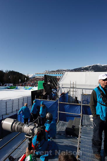 Trent Nelson  |  The Salt Lake Tribune.360 degree from photo position, Super-G, at the XXI Olympic Winter Games in Whistler, Friday, February 19, 2010.