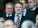 RANGERS' CHAIRMAN CRAIG WHYTE TAKES HIS SEAT IN THE STAND