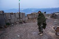 Located above a mountain, temperatures in November do not rise above 5 degrees. Soon, the snow will arrive, Kunar, Afghanistan, 16th November 2017. <br /> <br /> Situé au dessus d'une montagne, les températures au mois de novembre ne montent pas au-delà des 5 degrés. Bientôt, la neige arrivera,Kunar, Afghanistan,, 16 novembre 2017.