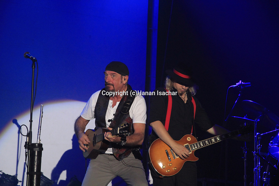 Israel, Ian Anderson plays ?Thick as a Brick? at Hangar 11 in Tel Aviv, with Florian Opahle on electric guitar